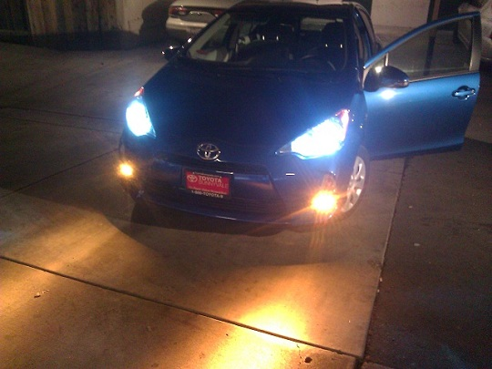 Custom Prius C Foglights (pictures, and instructions) on